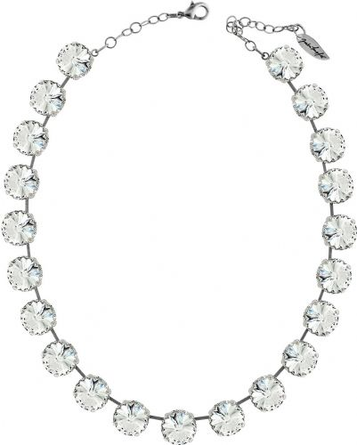 Necklace Rivoli   with Swarovski Crystals Clear